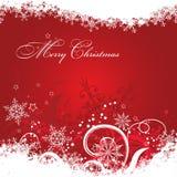 Fondo de la tarjeta de felicitación de la Navidad de la plantilla, vector Foto de archivo