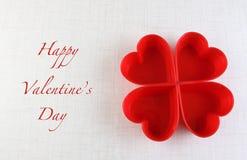 Fondo de la tarjeta de felicitación del corazón del día de tarjeta del día de San Valentín Fotos de archivo libres de regalías