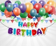 Fondo de la tarjeta de felicitación del feliz cumpleaños Foto de archivo