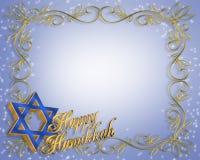 Fondo de la tarjeta de Hanukkah stock de ilustración