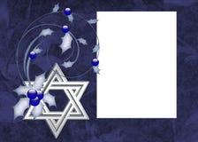 Fondo de la tarjeta de la foto de Hanukkah
