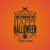 Fondo de la tarjeta de la invitación del partido de Halloween Imágenes de archivo libres de regalías