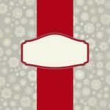 Fondo de la tarjeta de Navidad con los copos de nieve. Fotografía de archivo