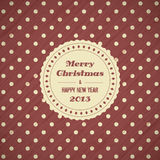 Fondo de la tarjeta de Navidad del vintage libre illustration