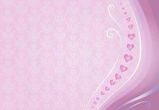 Fondo de la tarjeta de Pink&violet Imágenes de archivo libres de regalías