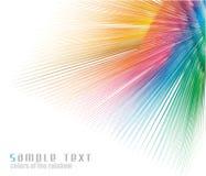 Fondo de la tarjeta de visita del espectro de colores del arco iris stock de ilustración