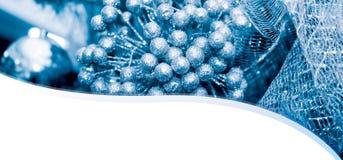 Fondo de la tarjeta del Año Nuevo de la Navidad con las bolas Foto de archivo