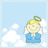 Fondo de la tarjeta del bautismo Imagen de archivo libre de regalías