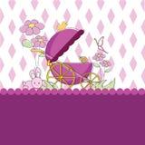 fondo de la tarjeta del bebé Fotos de archivo libres de regalías
