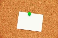 Fondo de la tarjeta del corcho Imagenes de archivo