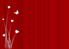 Fondo de la tarjeta del día de San Valentín ilustración del vector