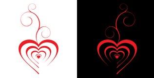 Fondo de la tarjeta del día de San Valentín stock de ilustración