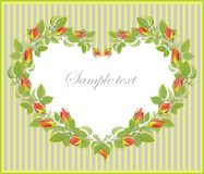 Fondo de la tarjeta del día de San Valentín. Imagen de archivo libre de regalías