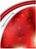Fondo de la tarjeta del día de San Valentín Imagen de archivo libre de regalías