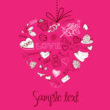 Fondo de la tarjeta del día de San Valentín Imagenes de archivo