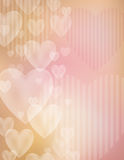 Fondo de la tarjeta del día de San Valentín Fotos de archivo libres de regalías