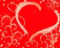 Fondo de la tarjeta del día de San Valentín Fotografía de archivo