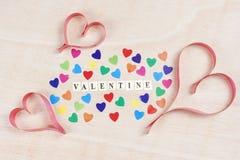 Fondo de la tarjeta del día de San Valentín Fotografía de archivo libre de regalías
