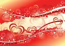 Fondo de la tarjeta del día de San Valentín abstracta. Imagenes de archivo