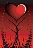 Fondo de la tarjeta del día de San Valentín abstracta Imagenes de archivo