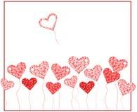 Fondo de la tarjeta del día de San Valentín con el corazón Fotografía de archivo