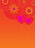 Fondo de la tarjeta del día de San Valentín con los corazones Fotografía de archivo