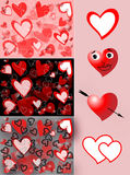 Fondo de la tarjeta del día de San Valentín con los corazones Imagen de archivo