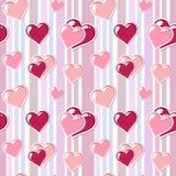 Fondo de la tarjeta del día de San Valentín con los corazones Imagen de archivo libre de regalías