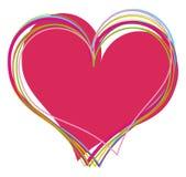 Fondo de la tarjeta del día de San Valentín con los corazones libre illustration