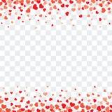Fondo de la tarjeta del día de San Valentín con los corazones en transparente y espacio para el te libre illustration