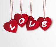 Fondo de la tarjeta del día de San Valentín con los corazones y el amor Foto de archivo libre de regalías