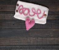 Fondo de la tarjeta del día de San Valentín, corazón, día de tarjetas del día de San Valentín, regalo, hecho a mano Fotografía de archivo libre de regalías