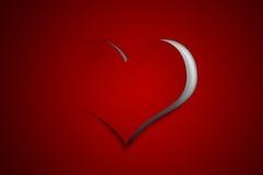 Fondo de la tarjeta del día de San Valentín - corazón de papel del recorte Fotos de archivo libres de regalías