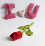 Fondo de la tarjeta del día de San Valentín, corazón del amor, día de tarjetas del día de San Valentín, diy Fotografía de archivo libre de regalías