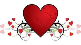 Fondo de la tarjeta del día de San Valentín, corazón, vector Imágenes de archivo libres de regalías