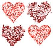 Fondo de la tarjeta del día de San Valentín, corazones, vector Fotos de archivo