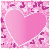 Fondo de la tarjeta del día de San Valentín de Grunge Fotos de archivo