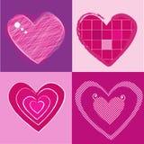 Fondo de la tarjeta del día de San Valentín de Grunge Imágenes de archivo libres de regalías