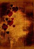 Fondo de la tarjeta del día de San Valentín de Grunge Imagenes de archivo