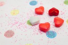 Fondo de la tarjeta del día de San Valentín de la diversión Fotografía de archivo