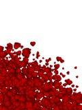 Fondo de la tarjeta del día de San Valentín del confeti del corazón. EPS 8 Imagen de archivo libre de regalías