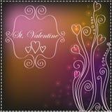 Fondo de la tarjeta del día de San Valentín del St con los modelos Imágenes de archivo libres de regalías