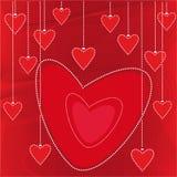 Fondo de la tarjeta del día de San Valentín del vector Imágenes de archivo libres de regalías