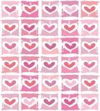 Fondo de la tarjeta del día de San Valentín del vector con el corazón Fotos de archivo libres de regalías