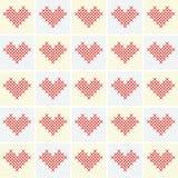 Fondo de la tarjeta del día de San Valentín del vector con el corazón Fotos de archivo