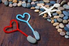 Fondo de la tarjeta del día de San Valentín, el 14 de febrero, te quiero Imagen de archivo libre de regalías
