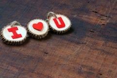 Fondo de la tarjeta del día de San Valentín, el 14 de febrero, te quiero Fotos de archivo libres de regalías