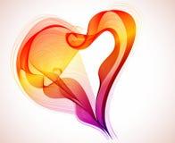 Fondo de la tarjeta del día de San Valentín hermosa con el corazón Fotos de archivo libres de regalías