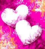 Fondo de la tarjeta del día de San Valentín, tema del amor Fotos de archivo libres de regalías