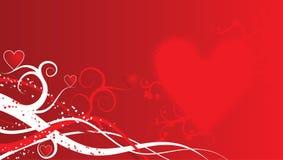 Fondo de la tarjeta del día de San Valentín, vector Imágenes de archivo libres de regalías